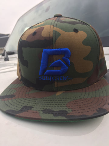 Camo Royal Blue BuiltCrew Snapback