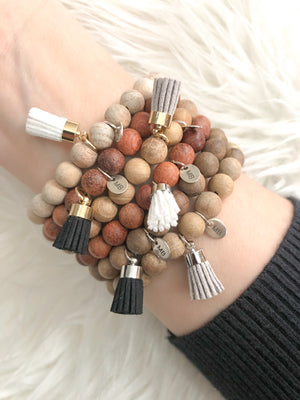 Neutral Tassels | Wood Beads