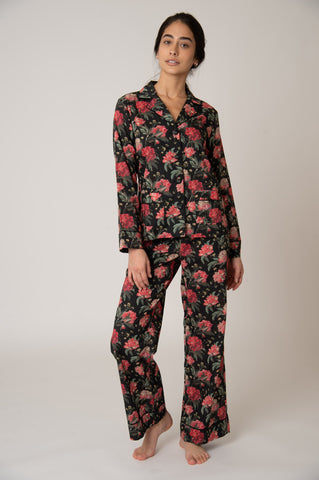 Colony Cotton Pajama Set - Decadent Blooms