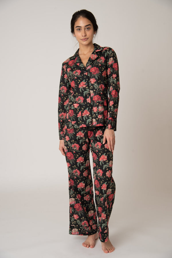 Katro Colony Cotton Pajama Set Decadent Blooms