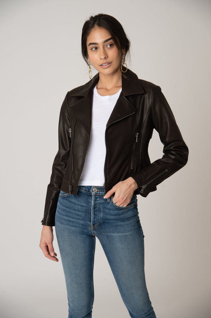 Laurel Canyon Leather Jacket - Brown