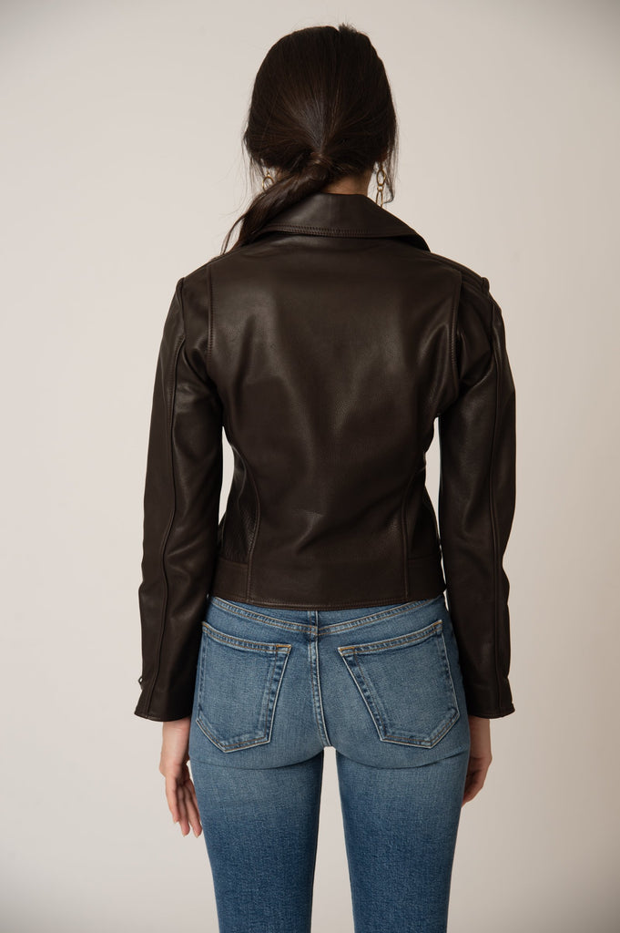 Katro Laurel Canyon Leather Jacket Brown