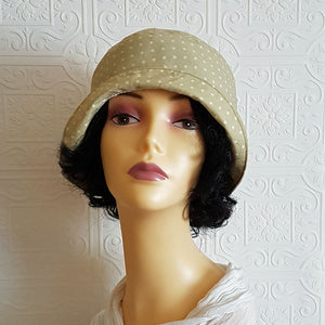 Polka Dot Cloche Hat