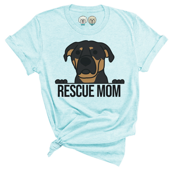 RESCUE MOM- PASTEL AQUA T-SHIRT