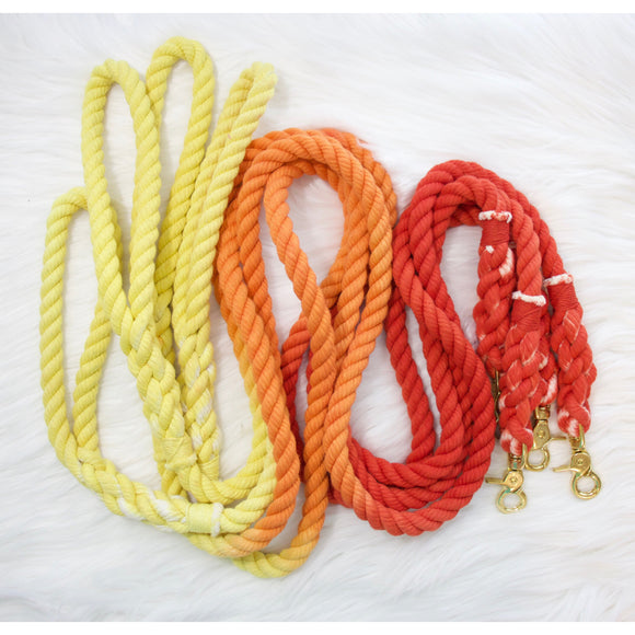 FIREBURST (YELLOW ORANGE RED) - 5FT ROPE LEASH