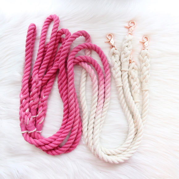 PINK OMBRE - 5FT ROPE LEASH