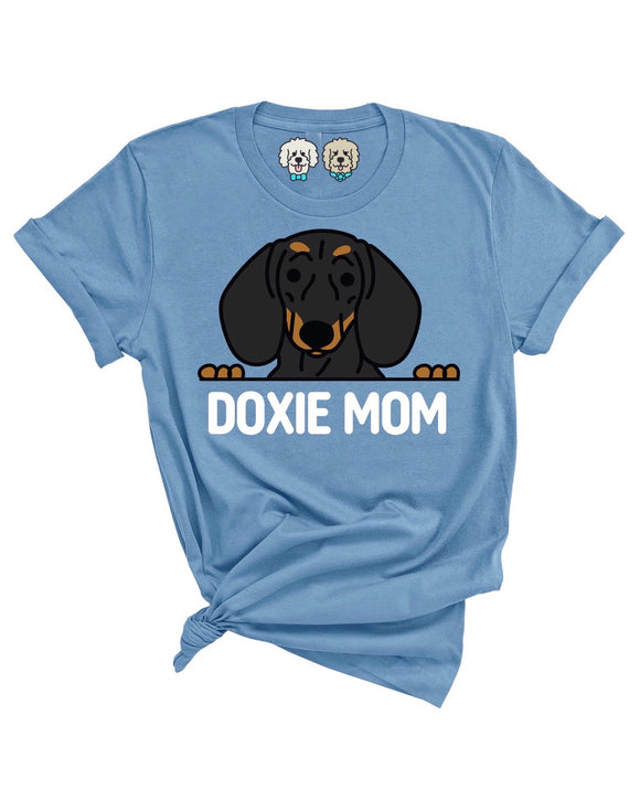 DOXIE MOM- SLATE T-SHIRT