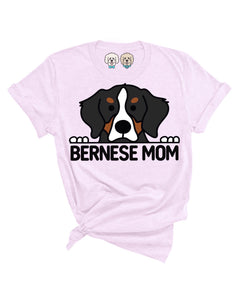 BERNESE MT DOG MOM- LAVENDER T-SHIRT