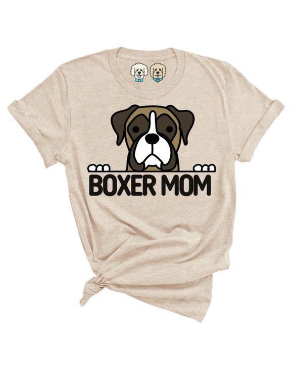 BOXER MOM- TAN T-SHIRT