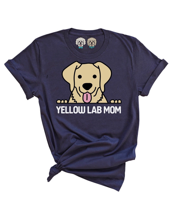 YELLOW LAB MOM- NAVY T-SHIRT