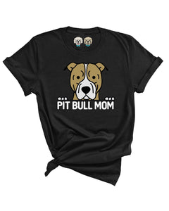 PITBULL MOM- BLACK T-SHIRT