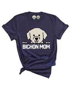 BICHON MOM -NAVY T-SHIRT