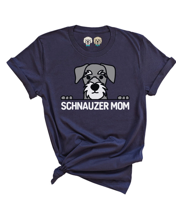 SCHNAUZER MOM - NAVY T-SHIRT