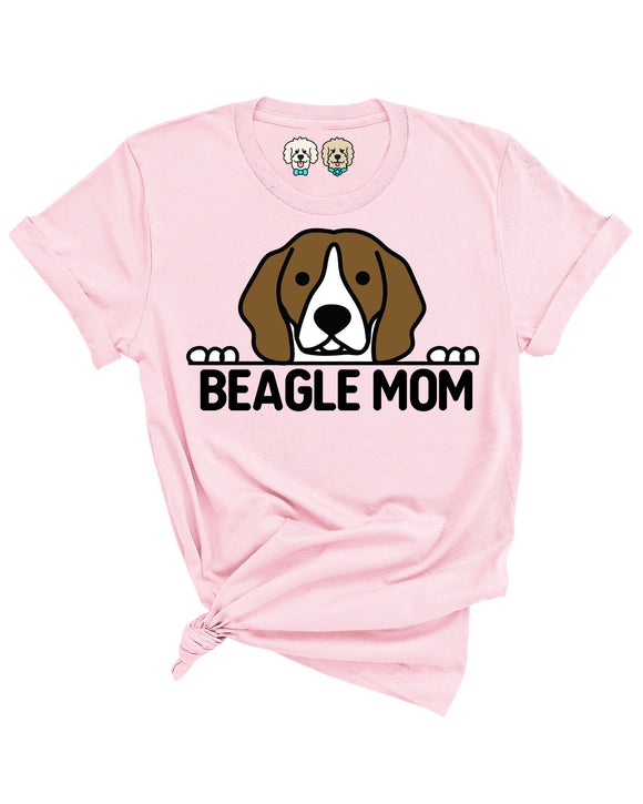 BEAGLE MOM- LIGHT PINK T-SHIRT