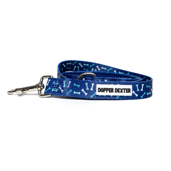 BLUE DOG BONES DOG LEASH