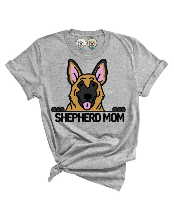 GERMAN SHEPHERD MOM- GRAY T-SHIRT
