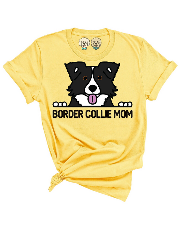 BORDER COLLIE MOM- YELLOW T-SHIRT