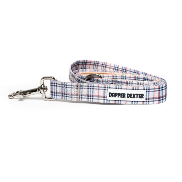 TAN BARKBERRY PLAID DOG LEASH