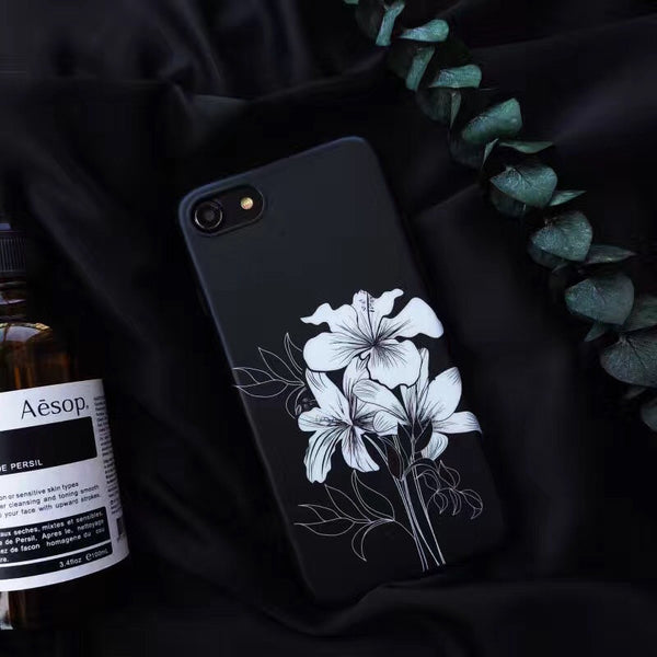 White Ink Flowers case
