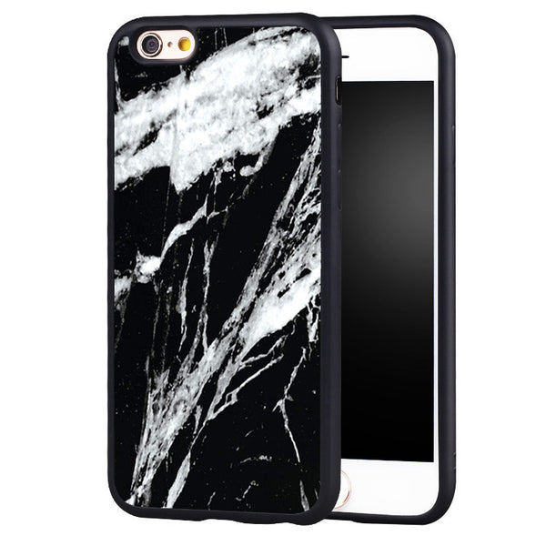 Cracked White Lines With A Black Marble Makes The Perfect Case For Your IPhone