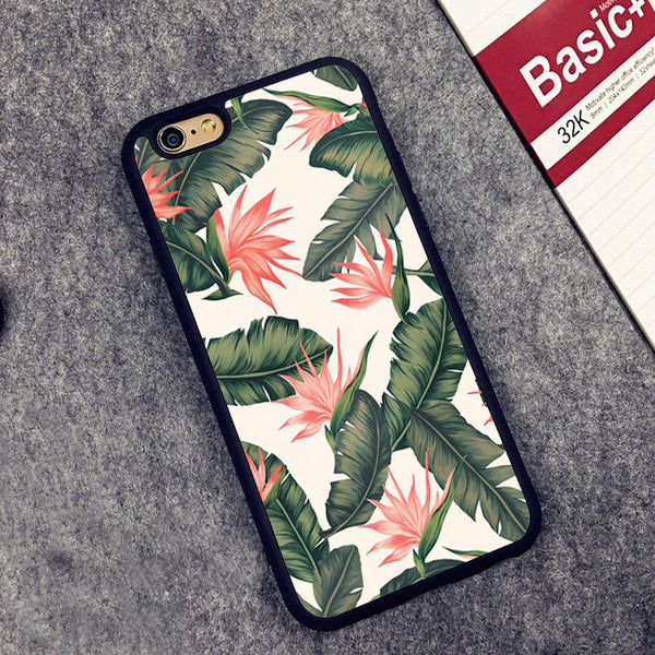 Catch the summer rose vibes with a unique pink leaves case for your iPhone.