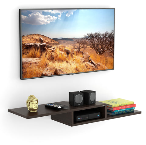 Bluewud Millie Wall Mounted TV unit Shelf / Set Top Box Stand (Wenge)