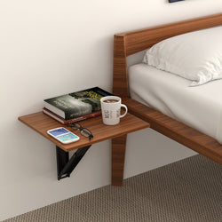 Hemming Wall Mounted Folding Bed Side Table - Set of 2