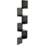 Morpheus Wall Shelf (Wenge 5 Shelves) - Bluewud