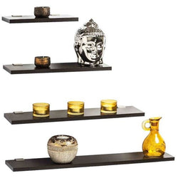 Stellar Wall Display Shelf (Wenge, Set of 4) - Bluewud