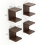 Alvin Wall Mount Book Shelf Rack/Display Case