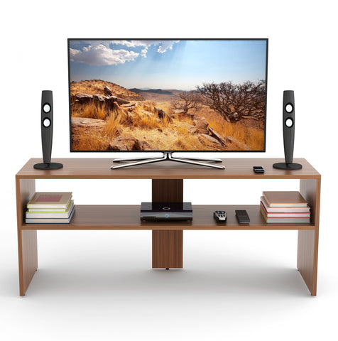 Oliver TV Unit Stand Entertainment Center (Walnut)