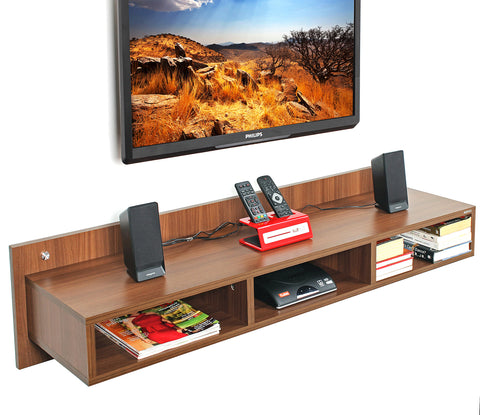 Reynold Wall TV Unit (Large , Walnut)