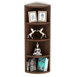 Bluewud Adora Corner Wall Decor Shelf/Wall Display Rack (5 Shelves)