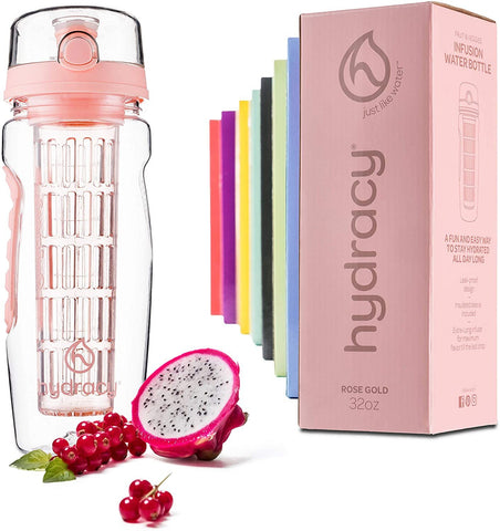 rose gold infuser water bottle