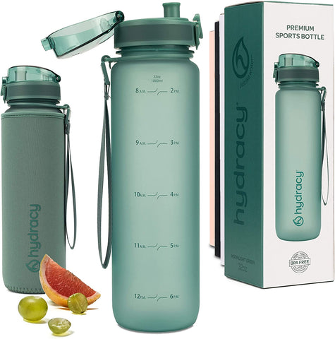 Sports Water Bottle 32oz - Moonlight Green