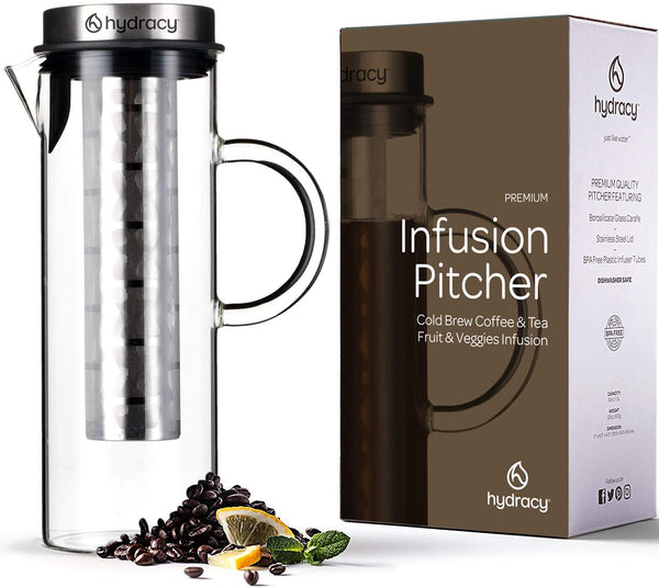 Glass Pitcher with Stainless Steel Infuser