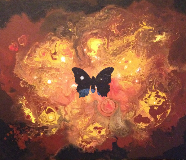 """The Butterfly Effect"" by artist Mark Kieran. 11"" x 14"" Signed Print."