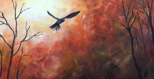 """Autumn Flight"" by Artist Susan L. Sistrunk 11"" x 14""  Signed Print"