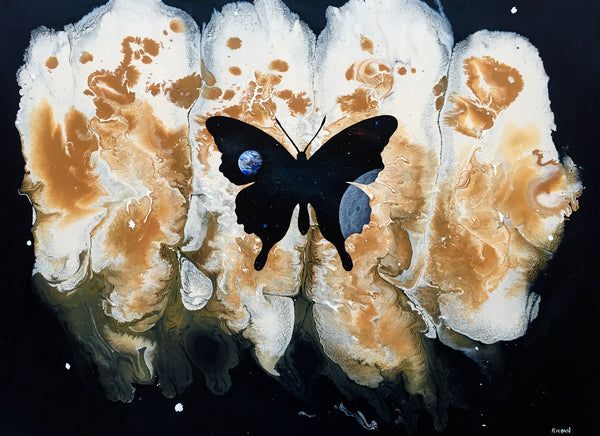 """The Butterfly Effect #2"" by Artist Mark Kieran 11"" x 14"" Signed Print"
