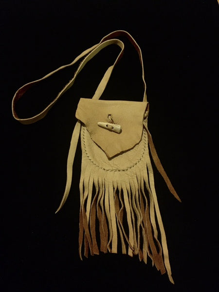 Medicine Bag with Antler Tip Toggle Button