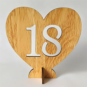 Wooden Table Numbers