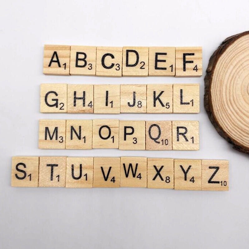 Pack of Scrabble Letter Tiles - 100pcs