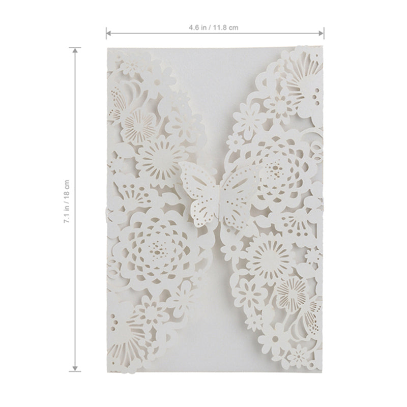 Floral Butterfly Wedding Invitation Pack
