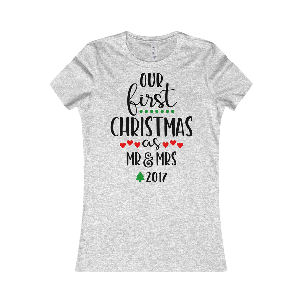 Our First Christmas As Mr & Mrs 2017 - Ladie's T Shirt