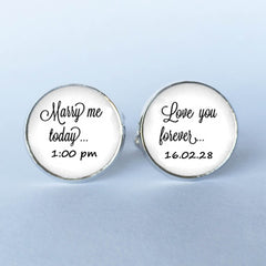Groom's Wedding Day Cufflinks
