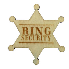 Wooden Ring Bearer Badge 'Ring Security'