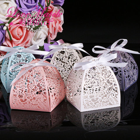 Floral Lace Favor Boxes