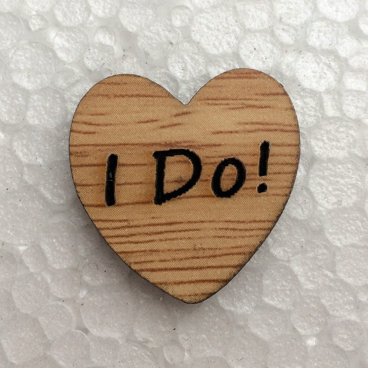 """I Do"" Wooden Hearts - 50pcs"