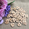 "Image of ""I Do"" Wooden Hearts - 50pcs"