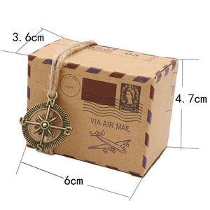 Air Mail Package Favor Boxes